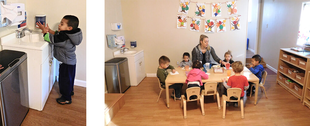 modesto early head start preschool eating area