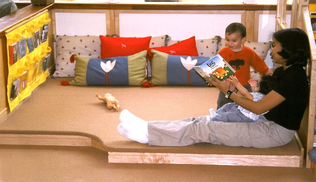 ucla childcare reading nook
