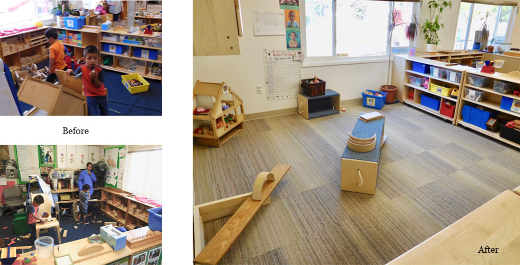chico construction play area before & after