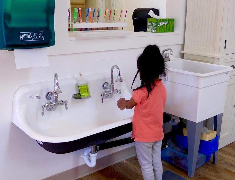 marin head start hand washing station