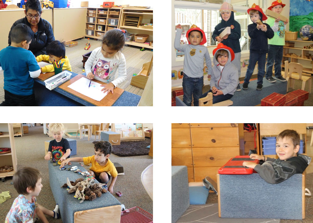 preschoolers use risers in dramatic ways