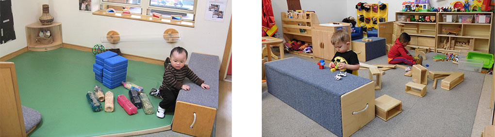 risers provide a safe space for preschoolers