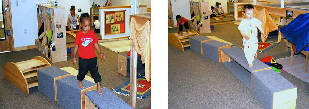 risers create a toddler balance beam